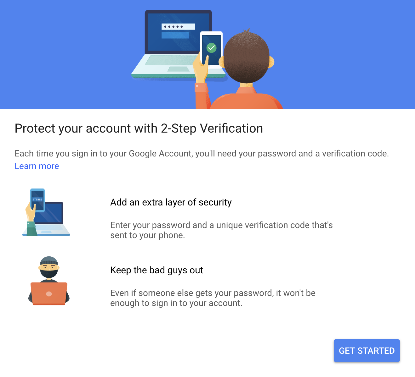 Google 2-Step Verification screenshot
